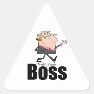 World's Coolest Boss Triangle Sticker