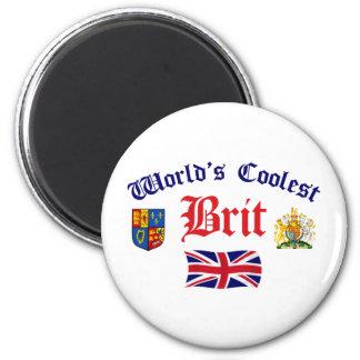 World's Coolest Brit 2 Inch Round Magnet