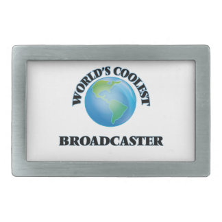 World's coolest Broadcaster Rectangular Belt Buckle
