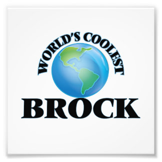 World's Coolest Brock Photo Art
