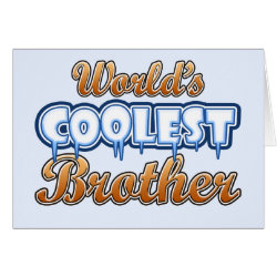 Greeting Card with World's Coolest Brother design