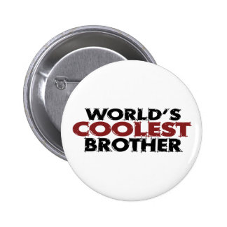 Worlds Coolest Brother Pin