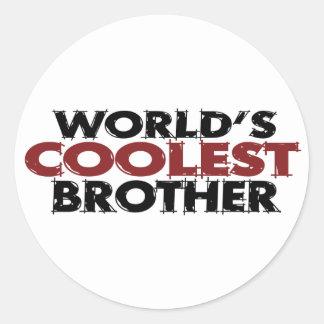Worlds Coolest Brother Classic Round Sticker