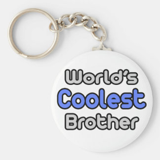 World's Coolest Brother Keychain