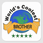 World's Coolest Brother Square Sticker