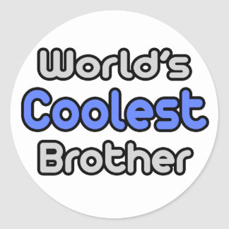 World's Coolest Brother Sticker
