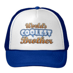 Trucker Hat with World's Coolest Brother design