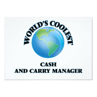 """World's coolest Cash And Carry Manager 5"""" X 7"""" Invitation Card"""