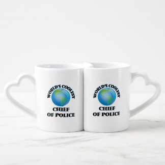 World's coolest Chief Of Police Lovers Mug Set