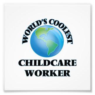 World's coolest Childcare Worker Art Photo