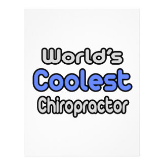 World's Coolest Chiropractor Flyer Design