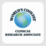 World's coolest Clinical Research Associate Square Stickers