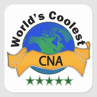 World's Coolest CNA Square Sticker