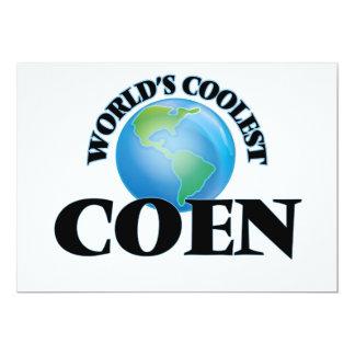 World's Coolest Coen 5x7 Paper Invitation Card