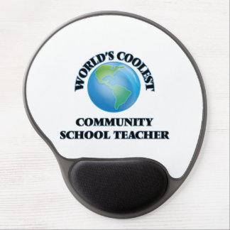 World's coolest Community School Teacher Gel Mousepad