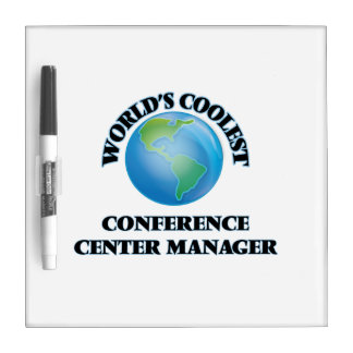 World's coolest Conference Center Manager Dry Erase White Board