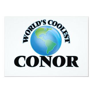 """World's Coolest Conor 5"""" X 7"""" Invitation Card"""