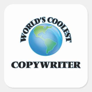 World's coolest Copywriter Square Stickers