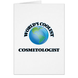 World's coolest Cosmetologist Cards