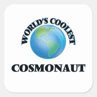 World's coolest Cosmonaut Square Sticker