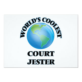 World's coolest Court Jester 5x7 Paper Invitation Card
