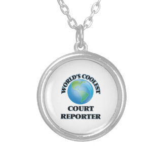 World's coolest Court Reporter Round Pendant Necklace