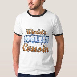 Men's Basic Ringer T-Shirt with World's Coolest Cousin design