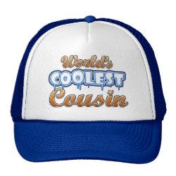 Trucker Hat with World's Coolest Cousin design