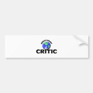 World's Coolest Critic Bumper Sticker