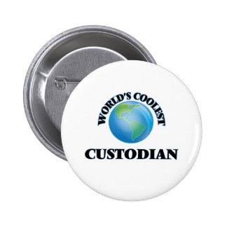 World's coolest Custodian Pinback Button