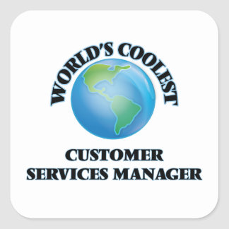 World's coolest Customer Services Manager Sticker