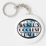 World's Coolest Dad Basic Round Button Keychain