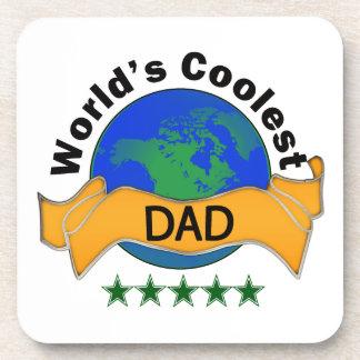World's Coolest Dad Beverage Coaster