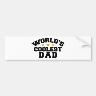 World's Coolest Dad Bumper Sticker