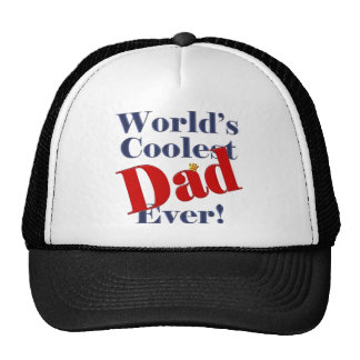 World's Coolest Dad Ever Father's Day Gift Mesh Hats