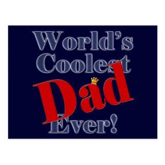 World's Coolest Dad Ever Father's Day Gift Postcard