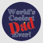 World's Coolest Dad Ever Father's Day Gift Round Stickers