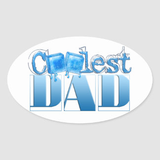 World's Coolest Dad Oval Sticker