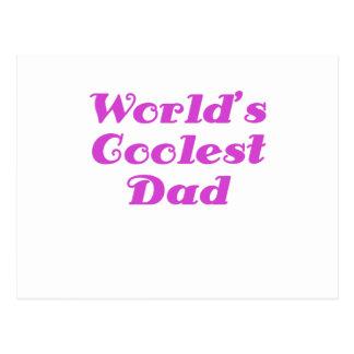 Worlds Coolest Dad Postcard