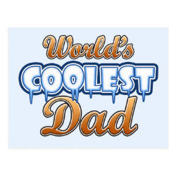 Postcard with World's Coolest Dad design