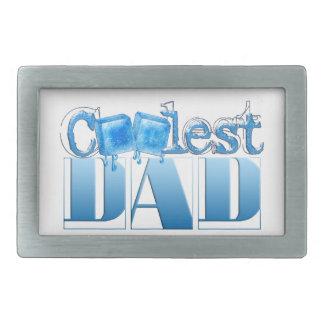 World's Coolest Dad Rectangular Belt Buckle