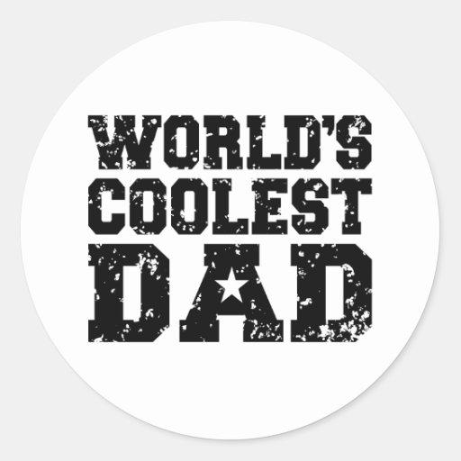 World's Coolest Dad Sticker