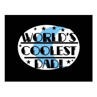 World's Coolest Dad Tshirts and Gifts Postcard
