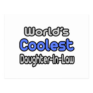 World's Coolest Daughter-In-Law Postcard