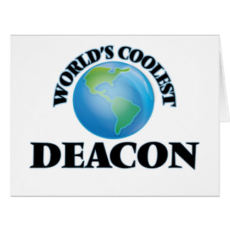 World's coolest Deacon Greeting Cards