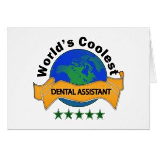 World's Coolest Dental Assistant Card