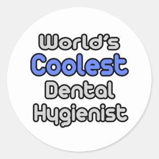 World's Coolest Dental Hygienist Round Stickers