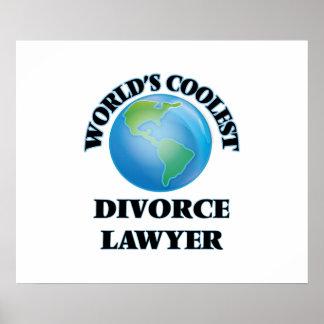 World's coolest Divorce Lawyer Poster