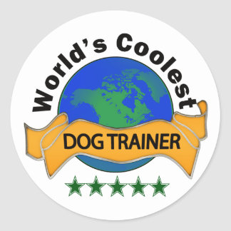 World's Coolest Dog Trainer Classic Round Sticker