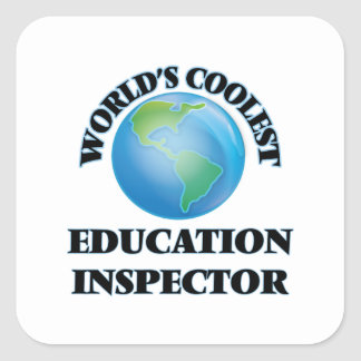 wORLD'S COOLEST eDUCATION iNSPECTOR Stickers